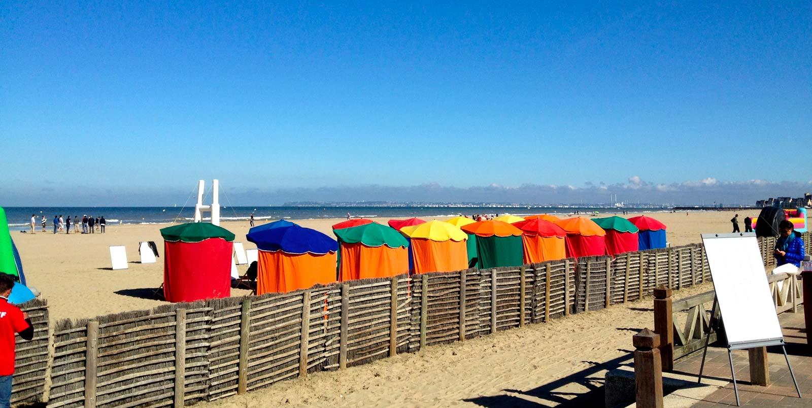 Deauville challenge sur la plage