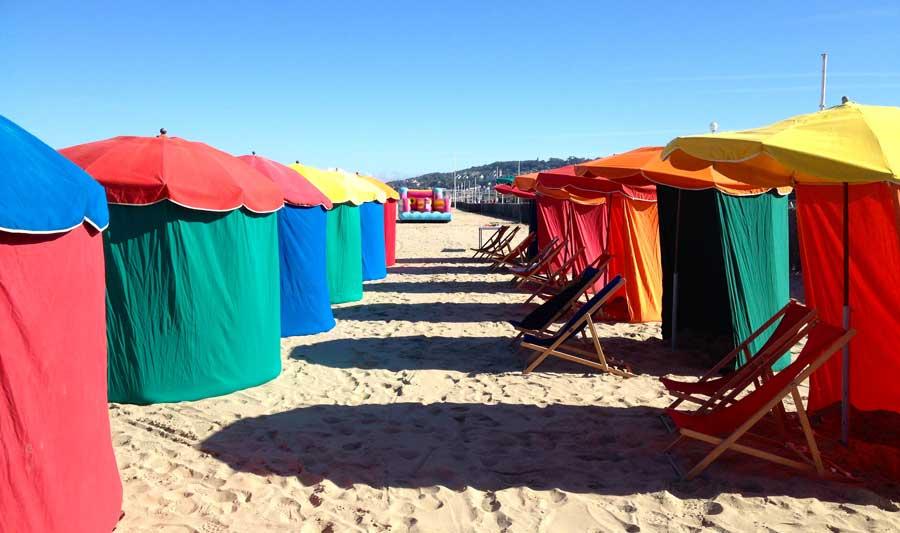 Parasols à Deauville