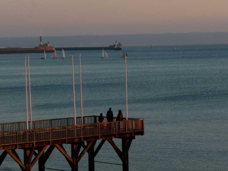 Normandie les pieds dans l'eau au Havre