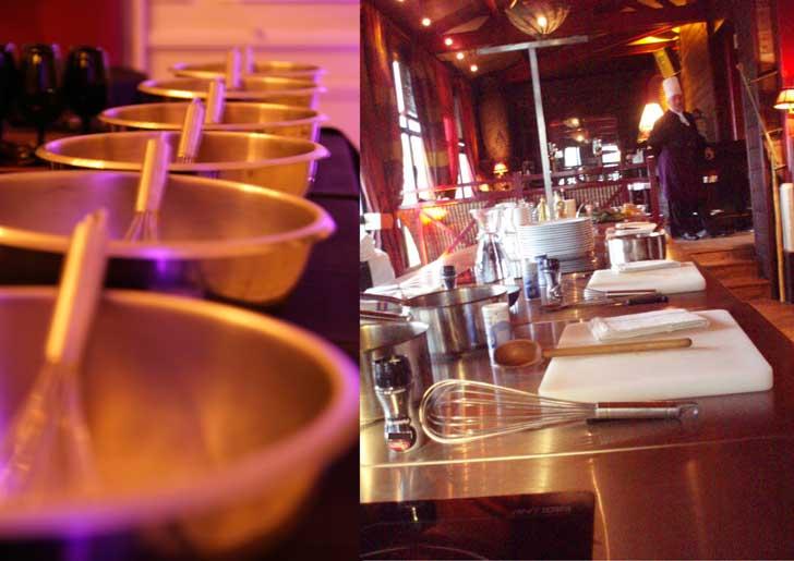 Atelier cuisine pour découvrir les recettes secrètes du chef et réaliser votre repas normand. Cours de cuisine de 6 à 80 personnes
