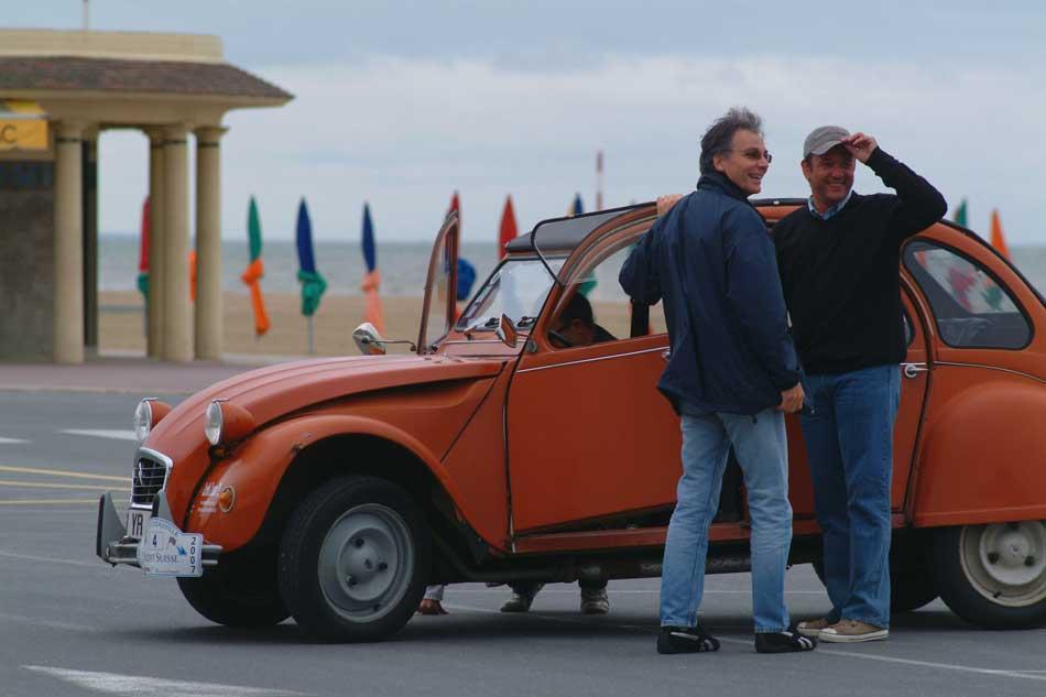 Rallye 2 CV pour séminaire professionnel à Deauville