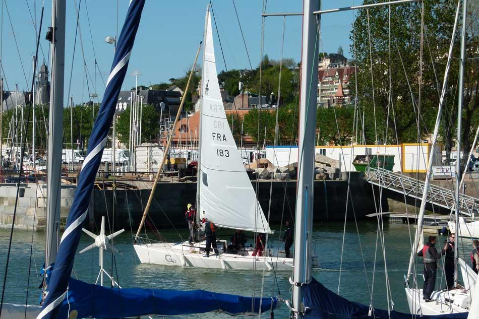 Régate en mer à Deauville
