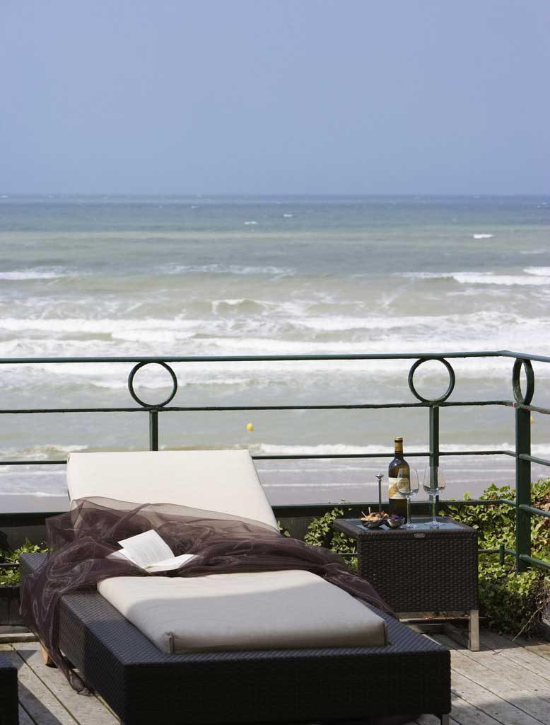 Chambre avec vue sur mer au Grand Hôtel de Cabourg