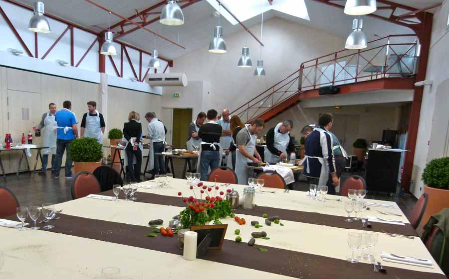 Cours de cuisine pour Team building avec Normandy DMC