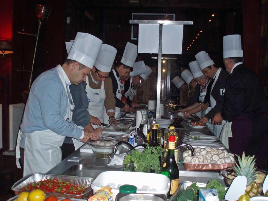 Cours de cuisine pour team building à Honfleur