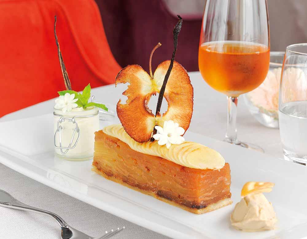 Feuilleté aux pommes au Grand Hôtel de Cabourg