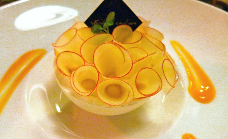 Dessert aux pommes par le chef Stépahne Carboneà Caen