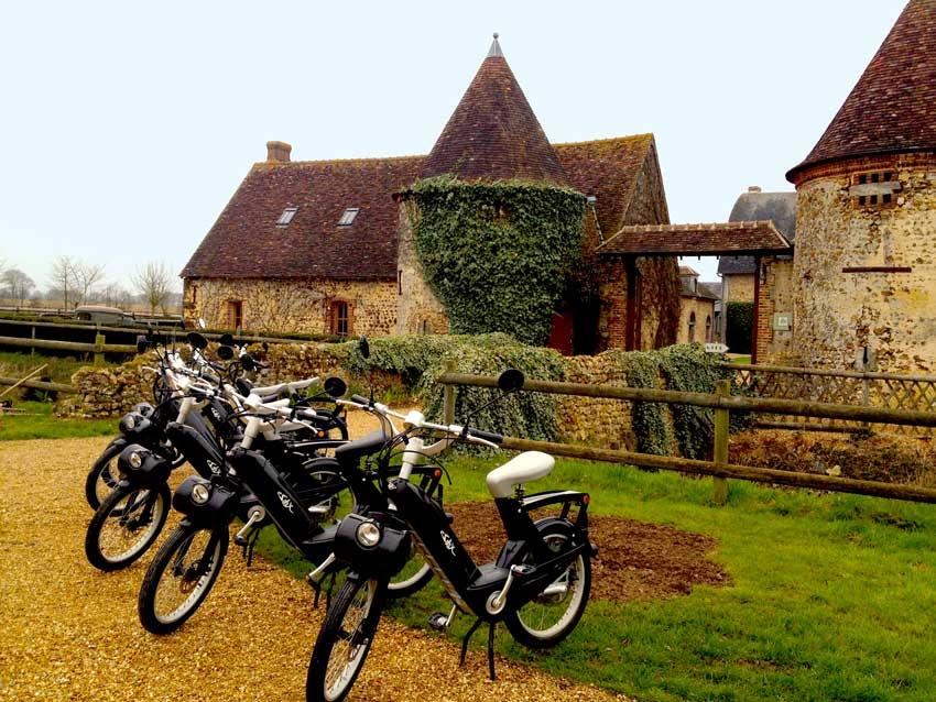 Escapade en e-solex en Normandie