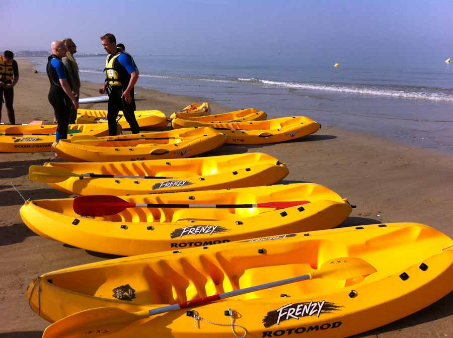Activité pour team learning le Kayak de mer avec Normandy DMC