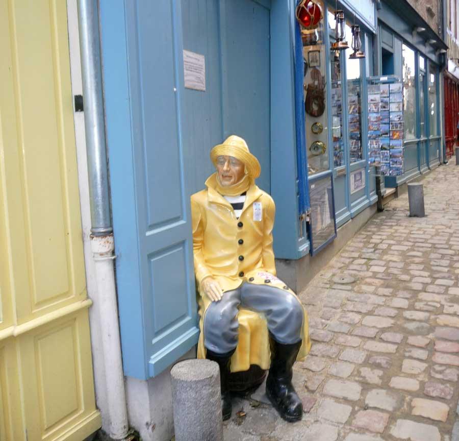 Sculpture de Pêcheur à Trouville