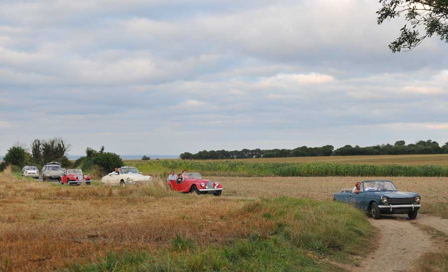 Découverte de la Normandie en rallye avec des voitures anciennes