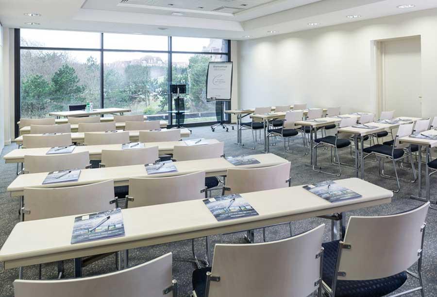 Une salle de réunion de l'Hôtel les bains de Cabourg
