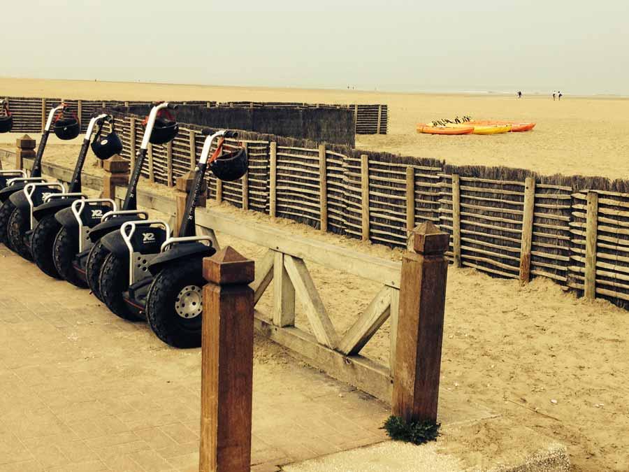 Segway sur la plage de Deauville avec Normandy DMC