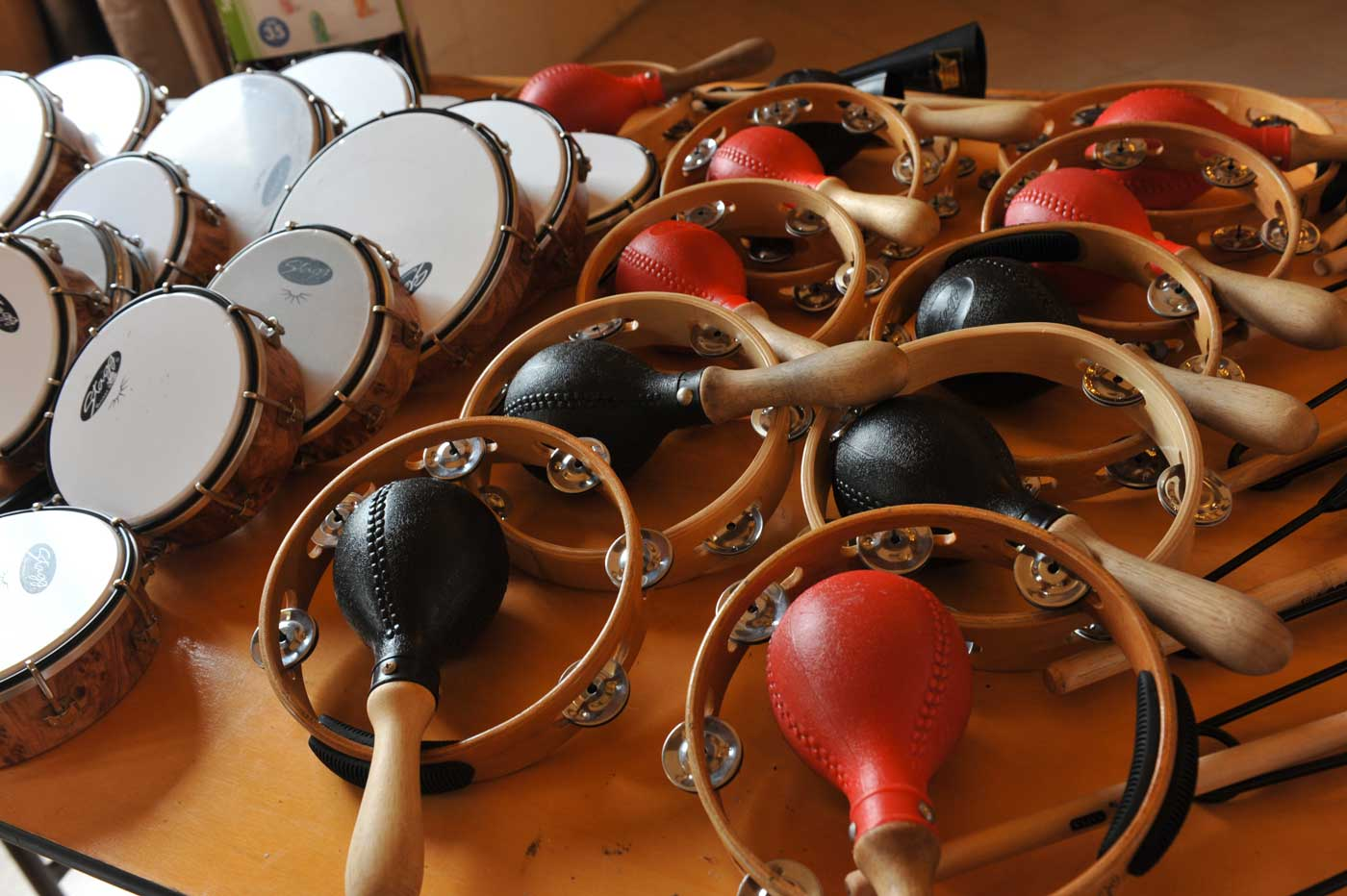 Activité de team learning - percussions