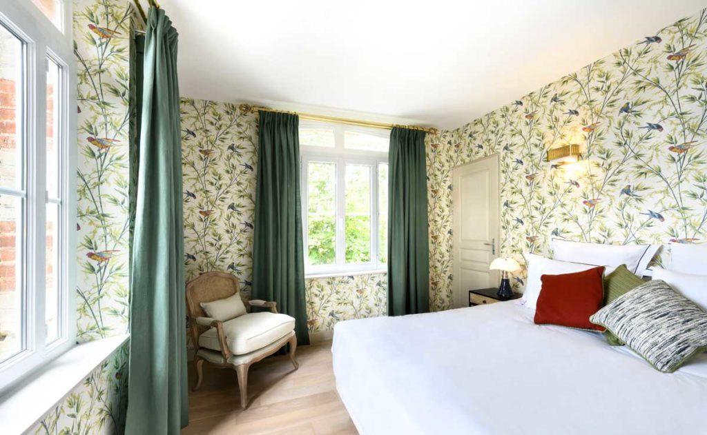 Chambre de l'hôtel le Donjon à Etretat