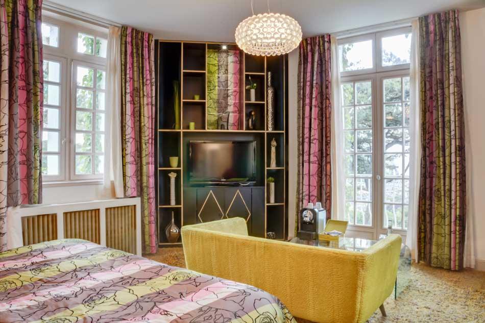 Suite Junior de l'hôtel Le Domaine Saint Clair à Étretat