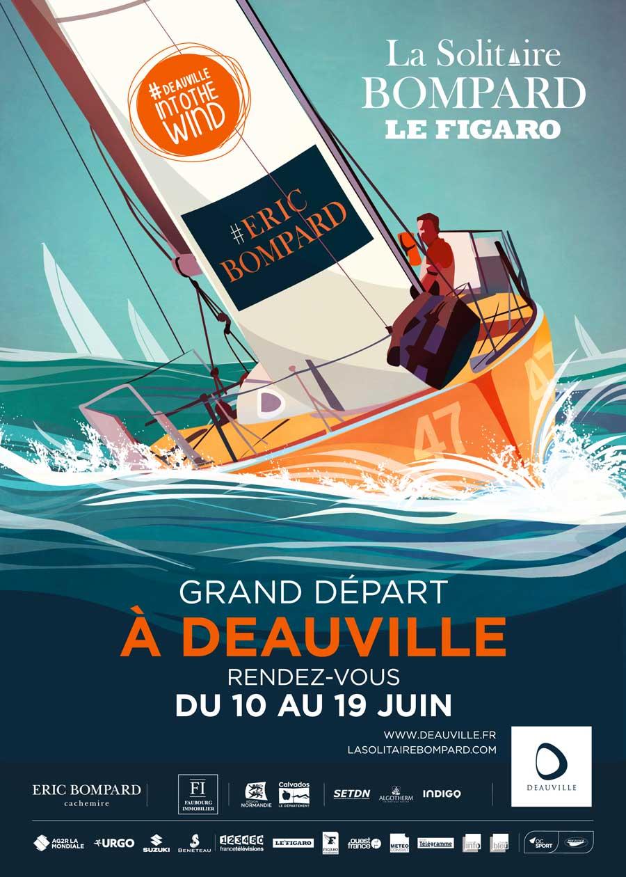 Affiche de La Solitaire Bompard Le Figaro