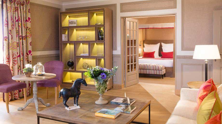 Une suite de l'hôtel La Ferme Saint-Simeon à Honfleur