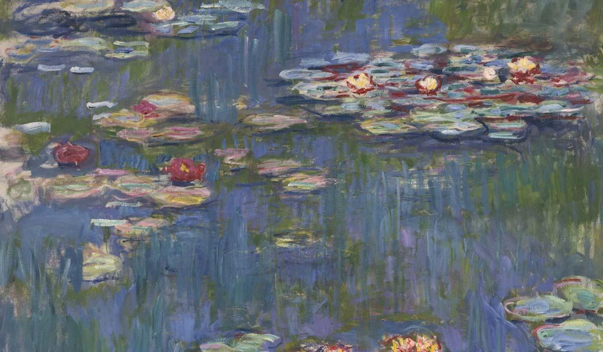 Détail de nymphéas Nymphéas de Claude Monet peint à Giverny