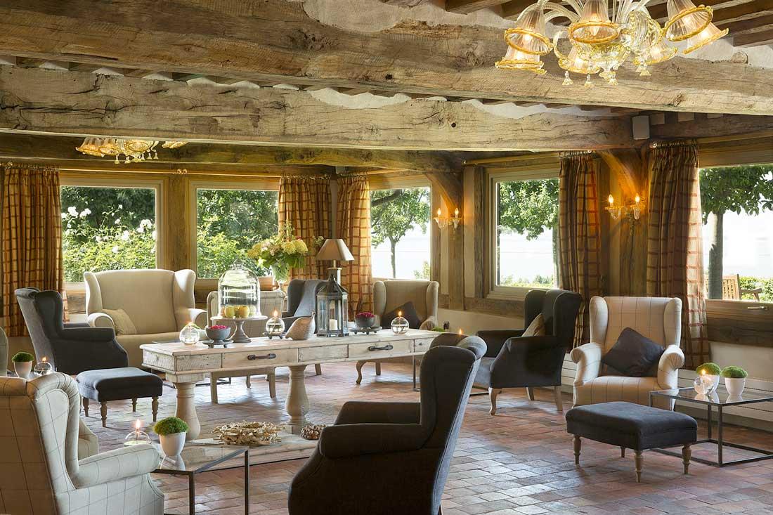 Le salon de l'hôtel La Ferme Saint-Simeon à Honfleur