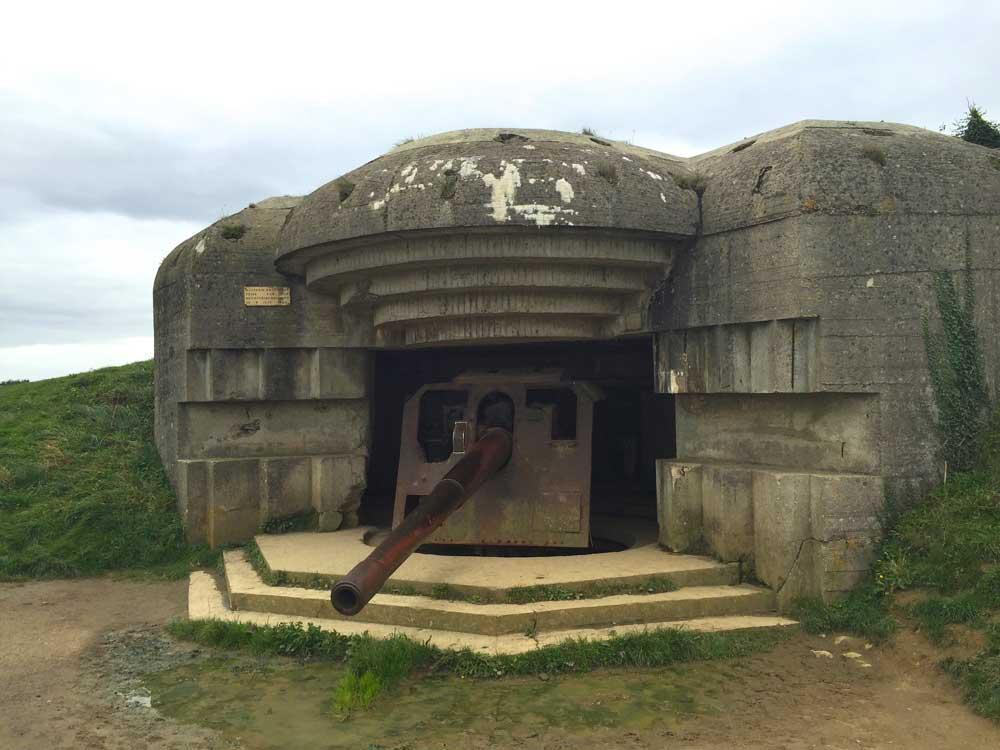 Batterie de Longues, ouvrage majeur du Mur de L'Atlantique