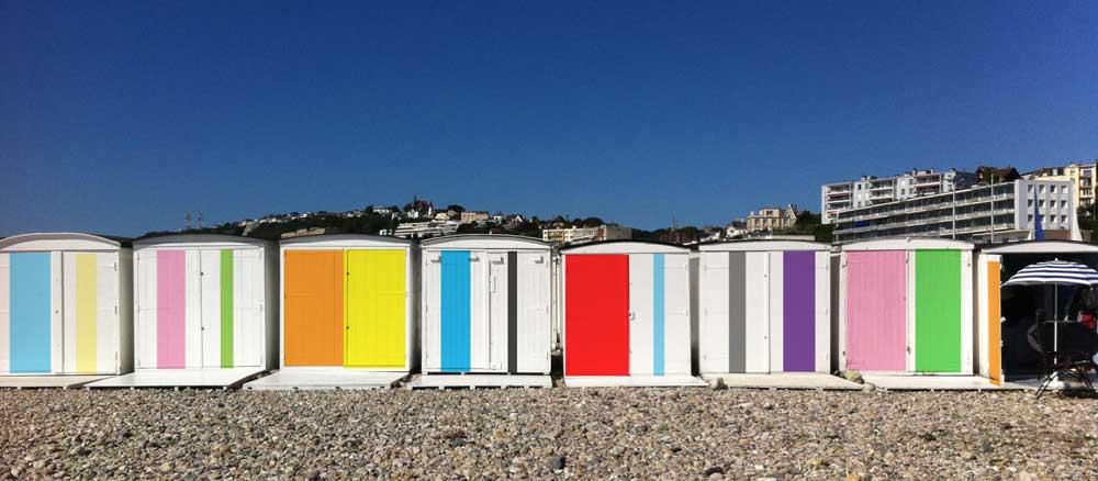 Couleurs sur la plage © Karel Martens, ADAGP Paris 2017