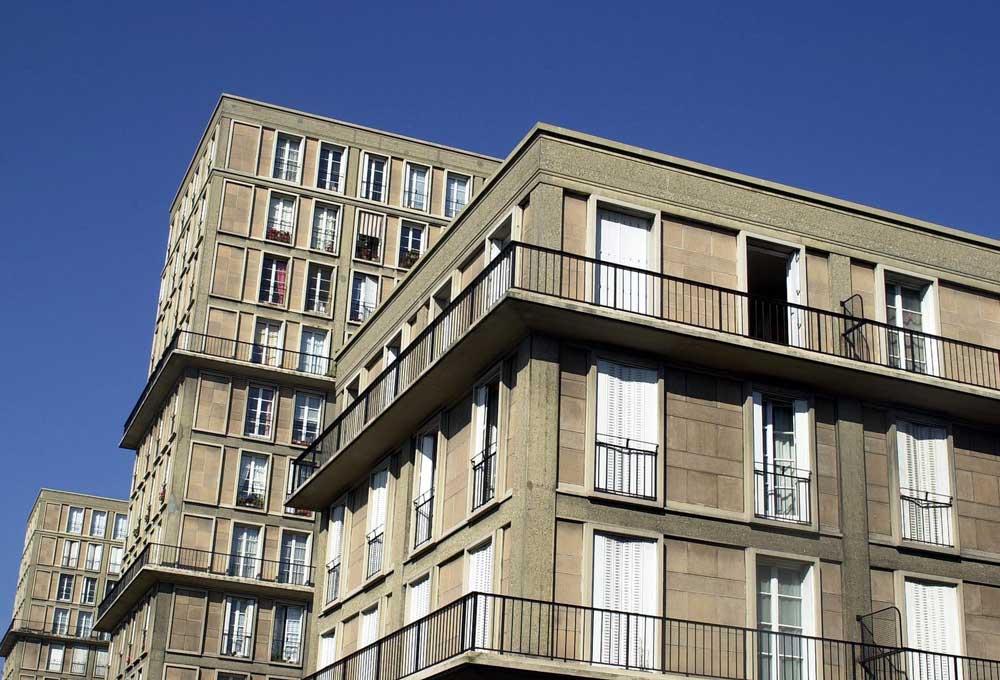Immeubles du centre du Havre, conçus par Auguste Perret.