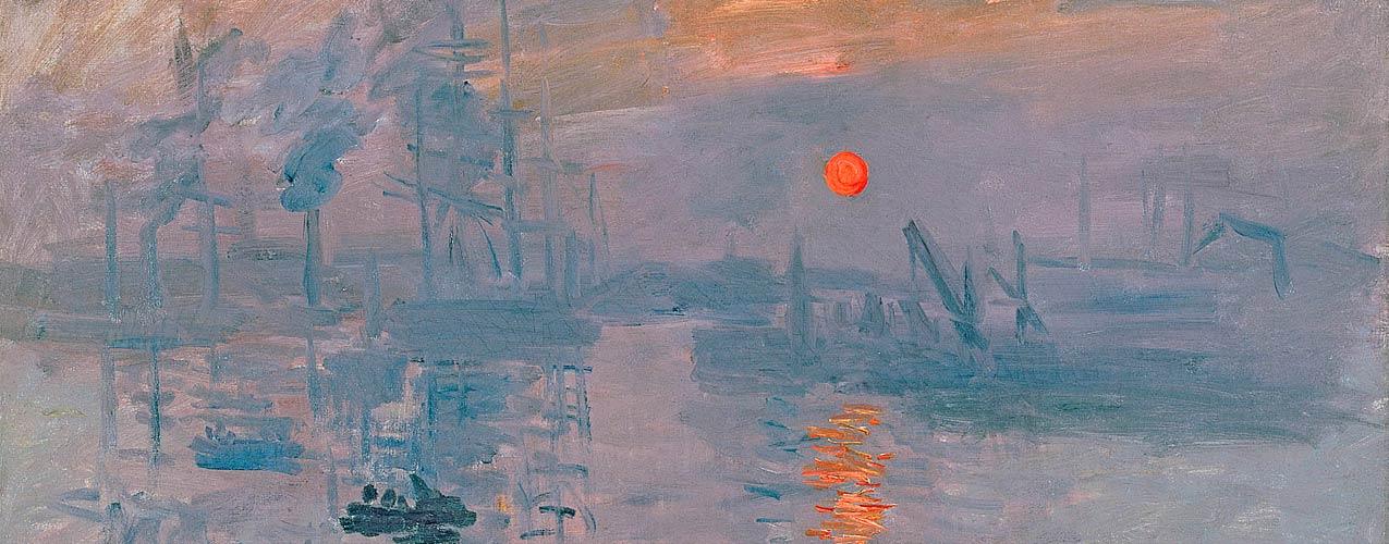 Claude Monet - Impression soleil levant, peint au Havre en 1872
