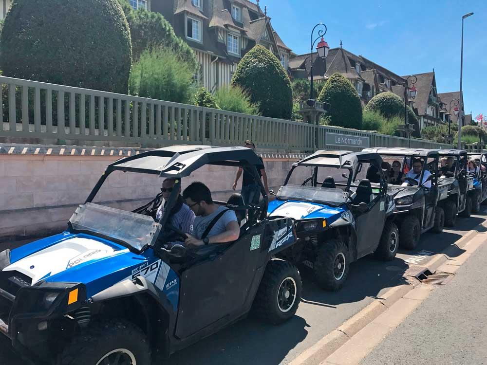 Balade en buggy durant un team building à Deauville