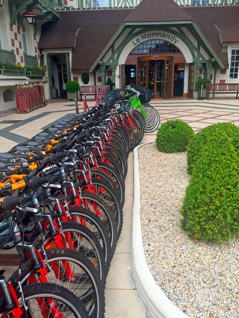 Balade à vélos à Deauville