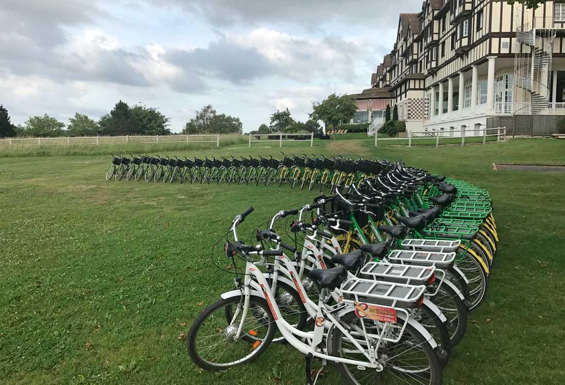 Vélos électriques à l'hôtel du Golf Barrière