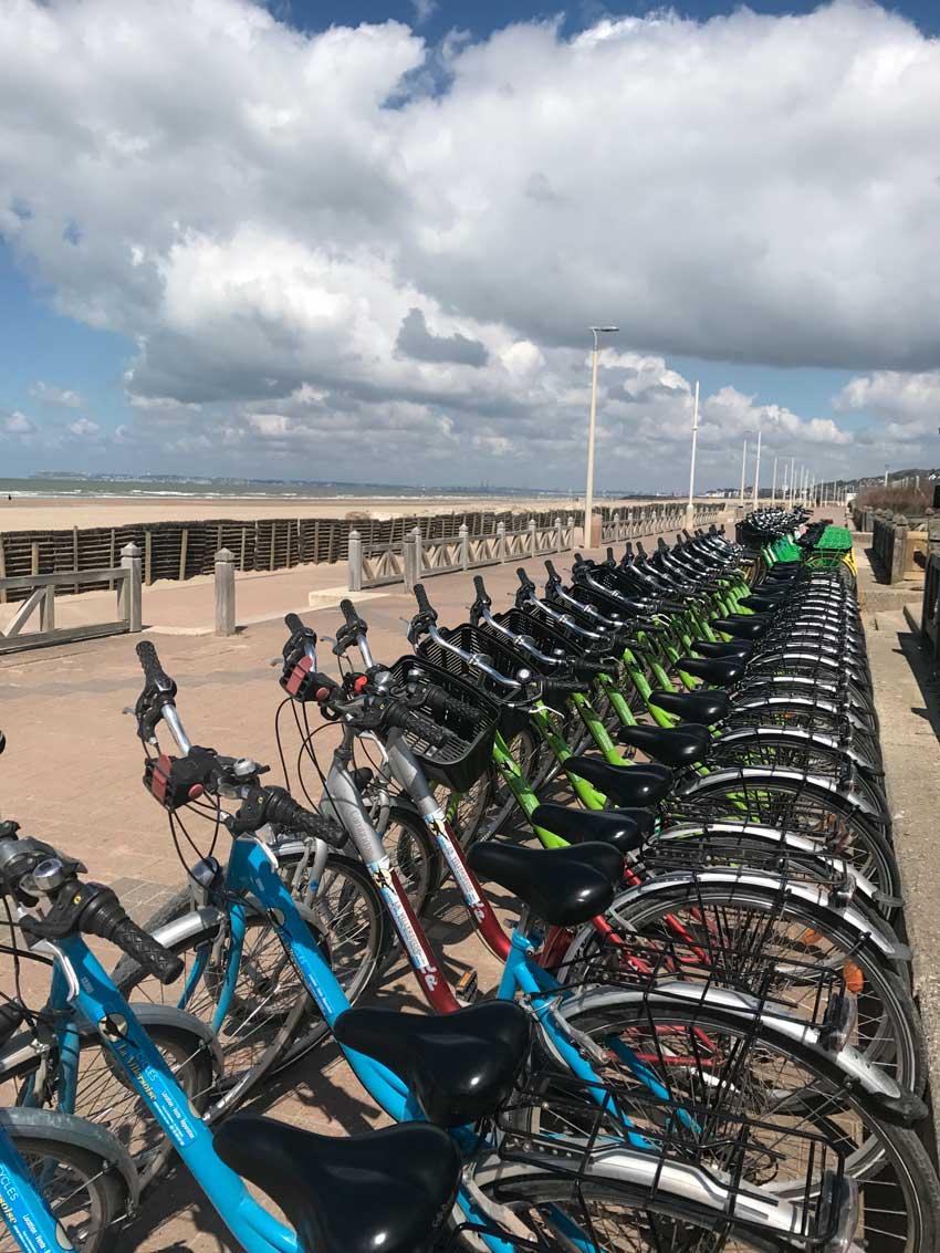 Vélos sur les Planches pour un team building à Deauville