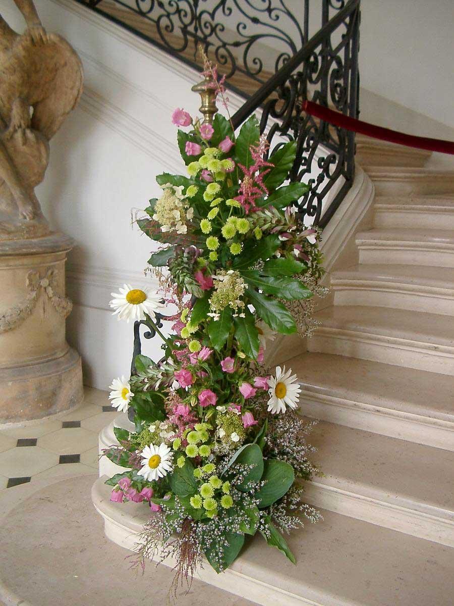 L'escalier du Château de Saint-Pierre l'Église