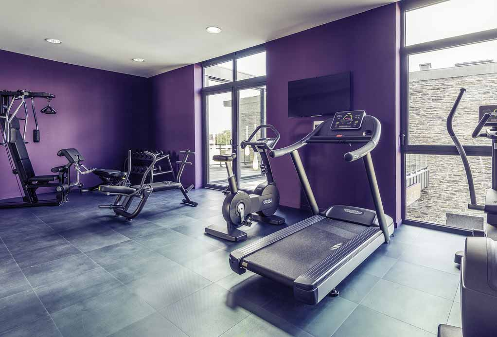 Salle de fitness de L'Hôtel Mercure Centre Port