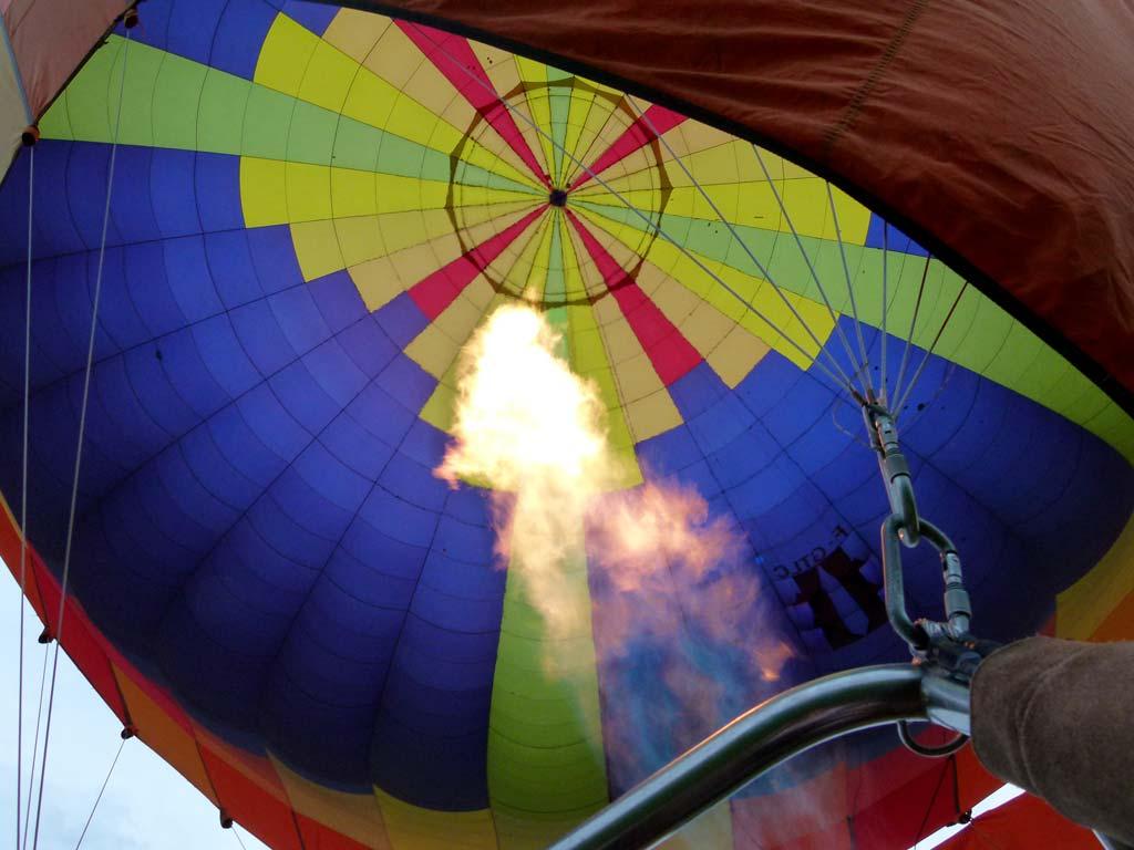 La Normandie vue du ciel en montgolfière