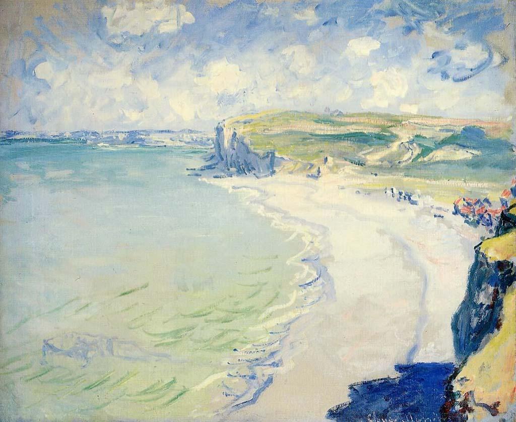 La plage à Pourville par Claude Monet