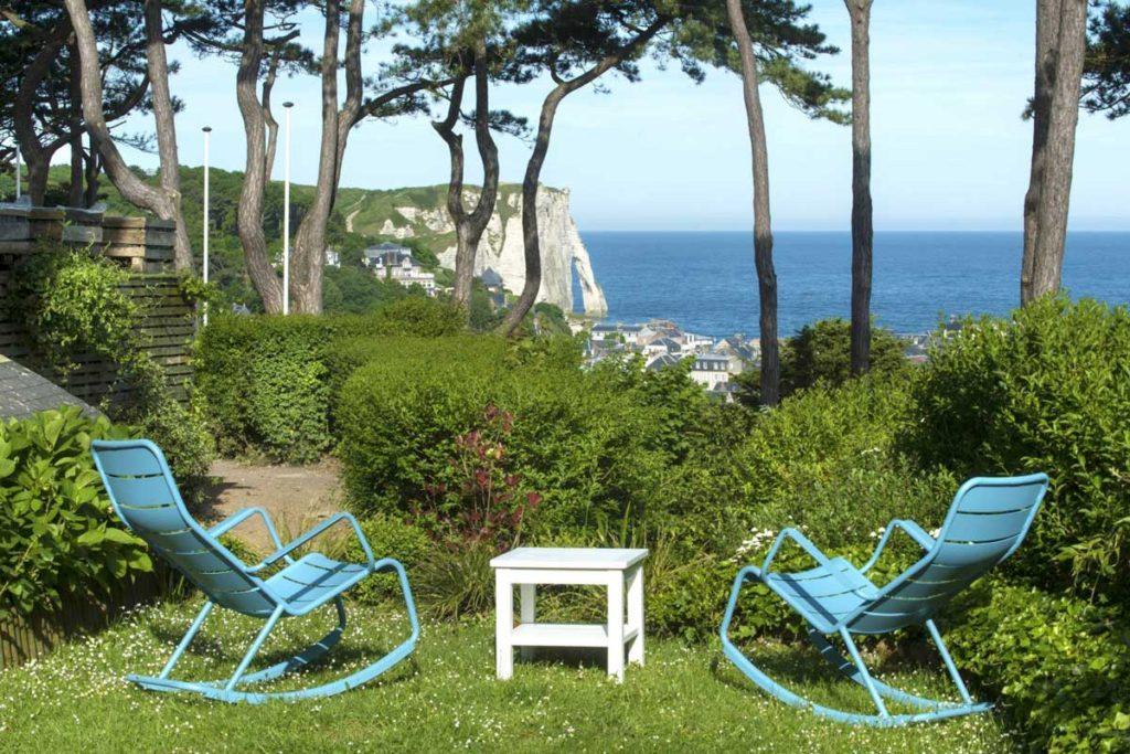 Jardin Hôtel Le Donjon - Domaine Saint Clair à Étretat