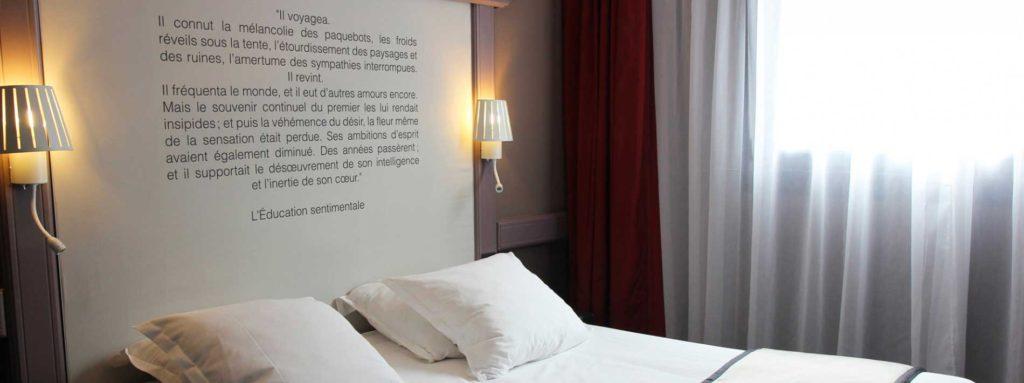 Une chambre - Best Western Hôtel Littéraire Gustave Flaubert