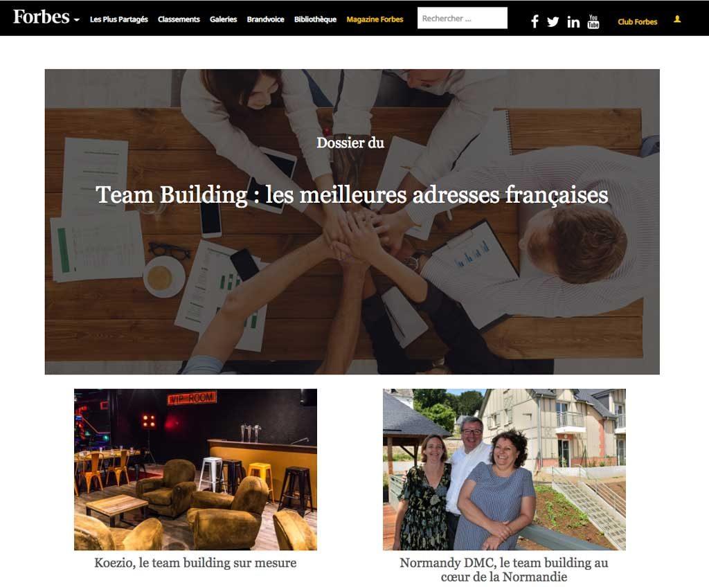 Forbes et Normandy DMC
