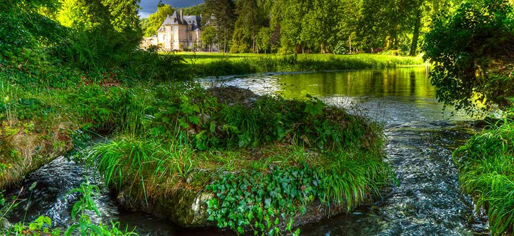 Parc du château d'Acquigny en Normandie