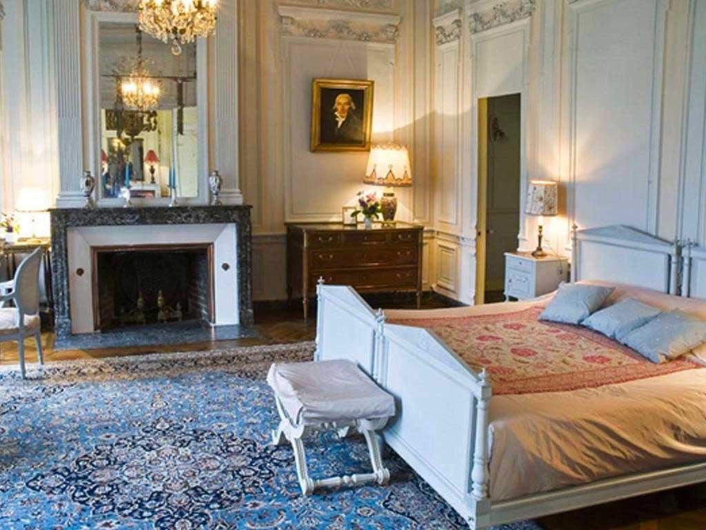 Une chambre du Château de Bonnemare pour votre séminaire en Normandie
