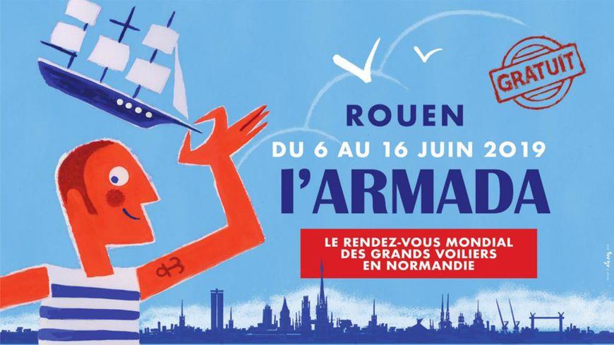Affiche de l'Armada Rouen 2019