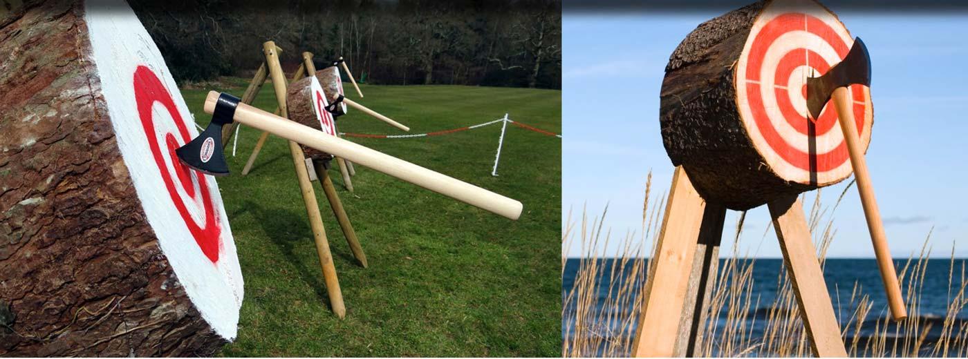 Lancer de haches en plein-air pour événementiel en Normandie
