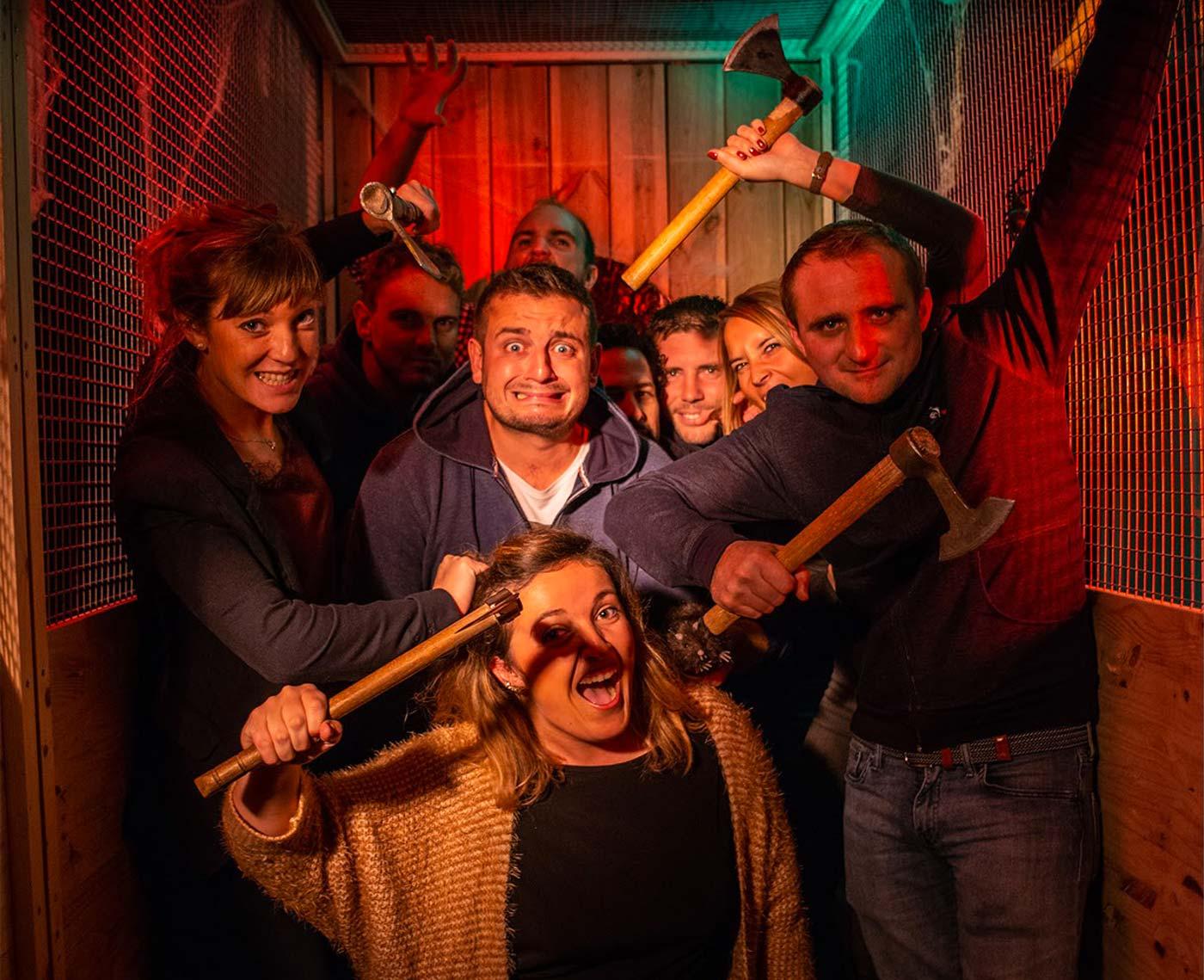 Lancer de hache, une activité ludique pour votre séminaire d'entreprise en Normandie