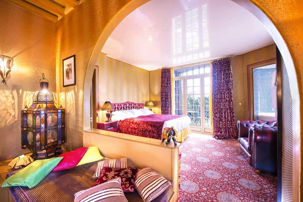 Chambre à l'hôtel Le Donjon - Domaine Saint Clair