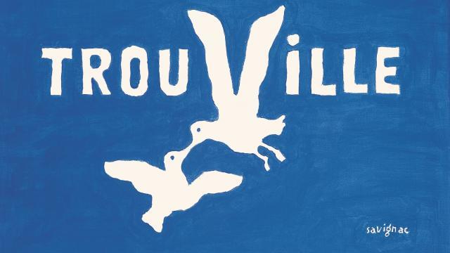 Le logo de la ville dessiné par Raymond Savignac