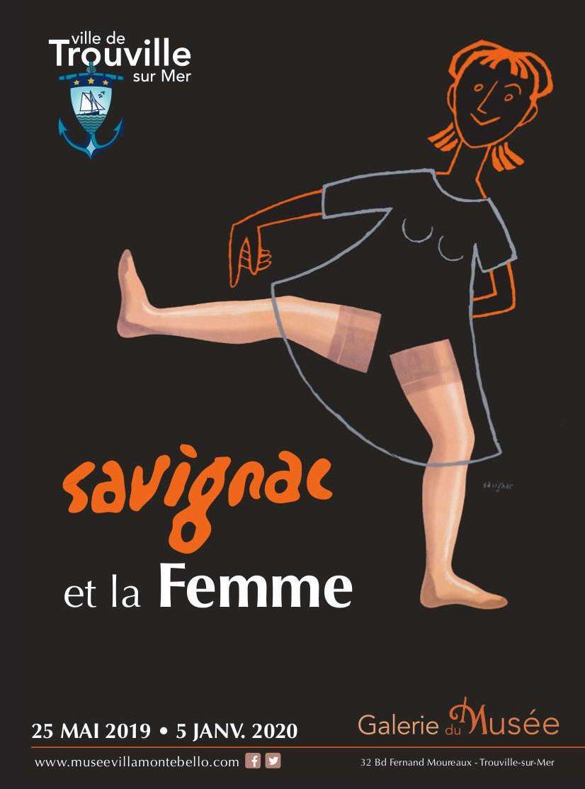 Exposition Savignac et la Femme à Trouville