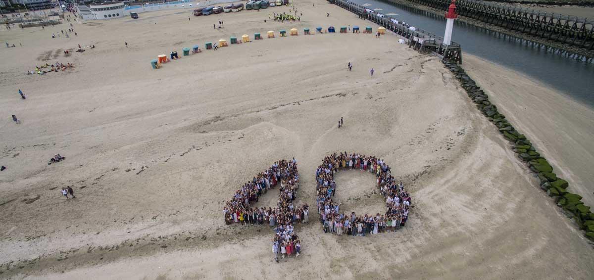 Anniversaire d'entreprise sur la plage de Trouville