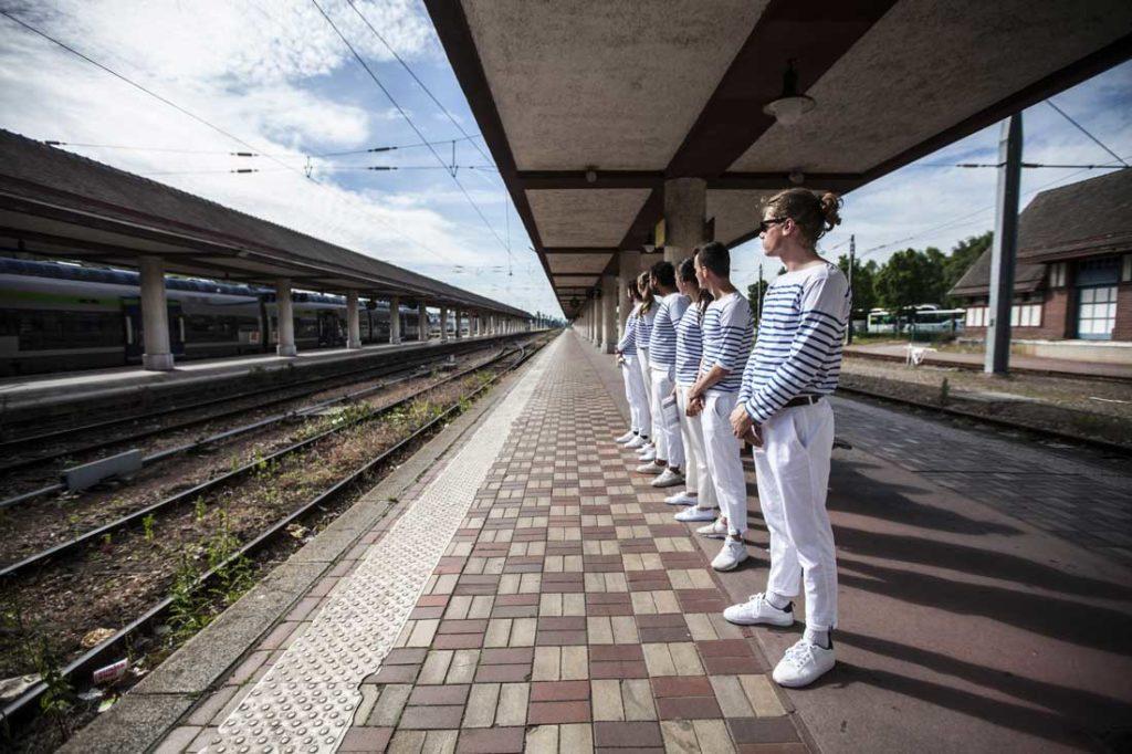 Attente des 400 collaborateurs en gare de Deauville