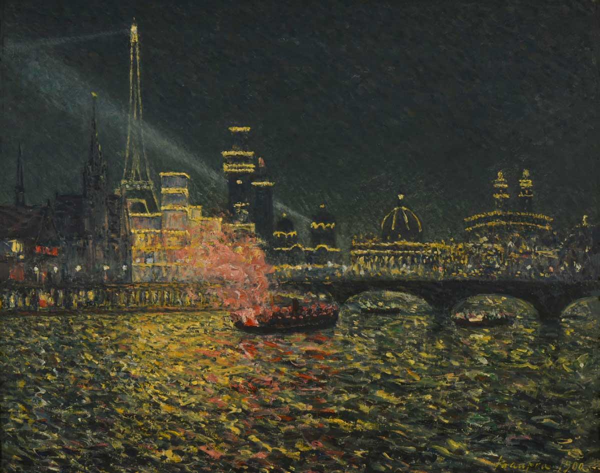 Féérie nocturne - Exposition Universelle 1900, Maxime Maufra, 1900, Huile sur toile